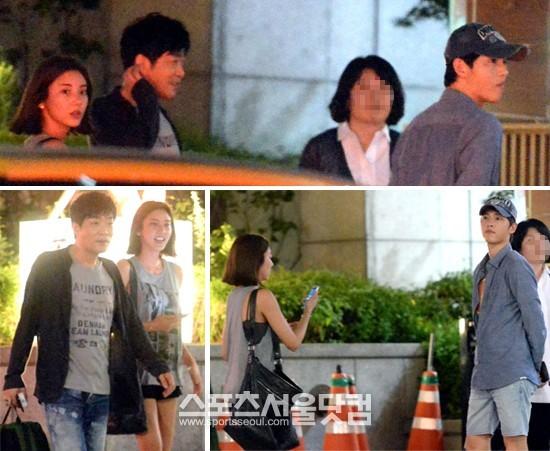 入隊を控えたソン・ジュンギが、俳優ソン・ヒョンジュ、歌手ソン・ダムビと一緒に夕食をするために待ち合わせ場所で待っている。|ノ・シフン記者