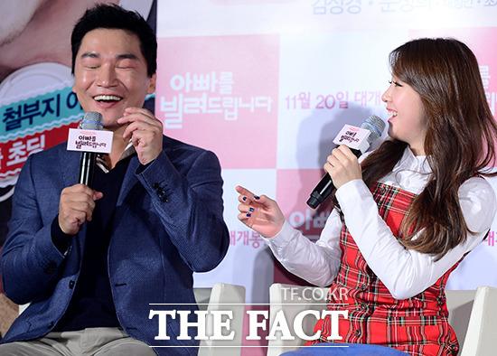撮影中に誤って韓国焼酎を飲んだミナの表情を再現する俳優チョ・ジェユン。